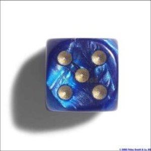 Philos 7102 - Würfel, 12 mm, pearl blau, 36er Brick