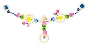 Goki 734850 - Kinderwagenkette Meerjungfrau, Holz