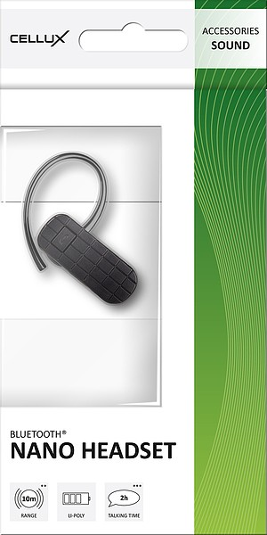 CELLUX Bluetooth Nano Headset, black