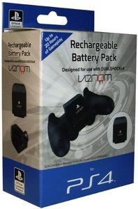 VENOM - Rechargeable Battery Pack, Ladegerät, Zusatz-Akku, für PS4, schwarz (OFFICIALLY LICENSED)