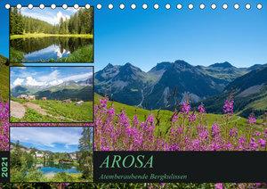 Arosa - Atemberaubende Bergkulissen (Tischkalender 2021 DIN A5 q