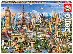Educa Puzzle.  Europe Landmarks 2000 Teile