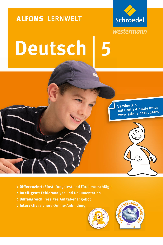 Alfons Lernwelt Lernsoftware Deutsch 5. CD-ROM. Windows 7; Vista