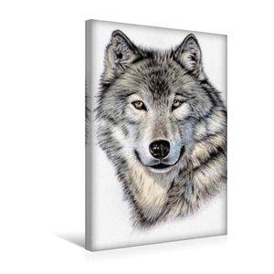 Premium Textil-Leinwand 30 cm x 45 cm hoch Der Sibirische Wolf