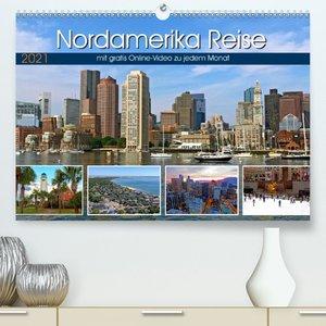 Reisekalender Nordamerika (Premium, hochwertiger DIN A2 Wandkale