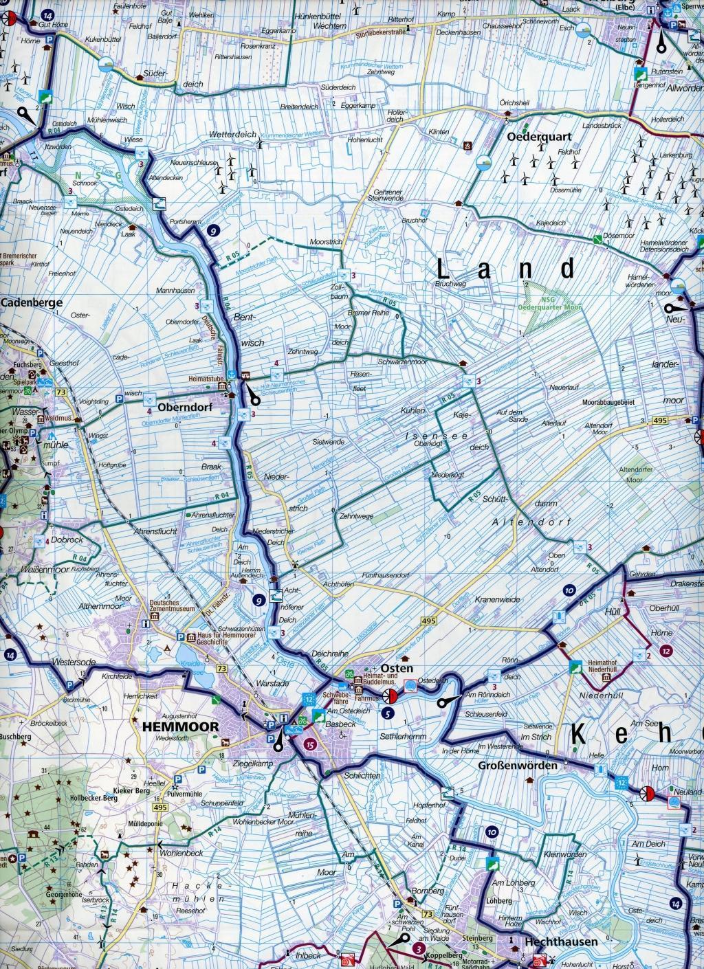 KOMPASS Fahrradkarte Elbe-Weser-Dreieck 1:70.000, FK 3313