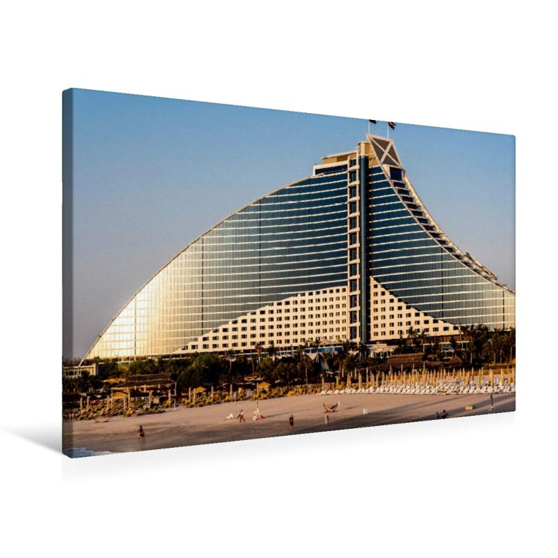 Premium Textil-Leinwand 75 cm x 50 cm quer Jumeirah Beach Hotel