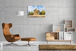 Premium Textil-Leinwand 90 cm x 60 cm quer Ein Motiv aus dem Kalender Detmold Impressionen
