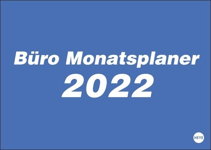 Büro Monatsplaner Kalender 2022