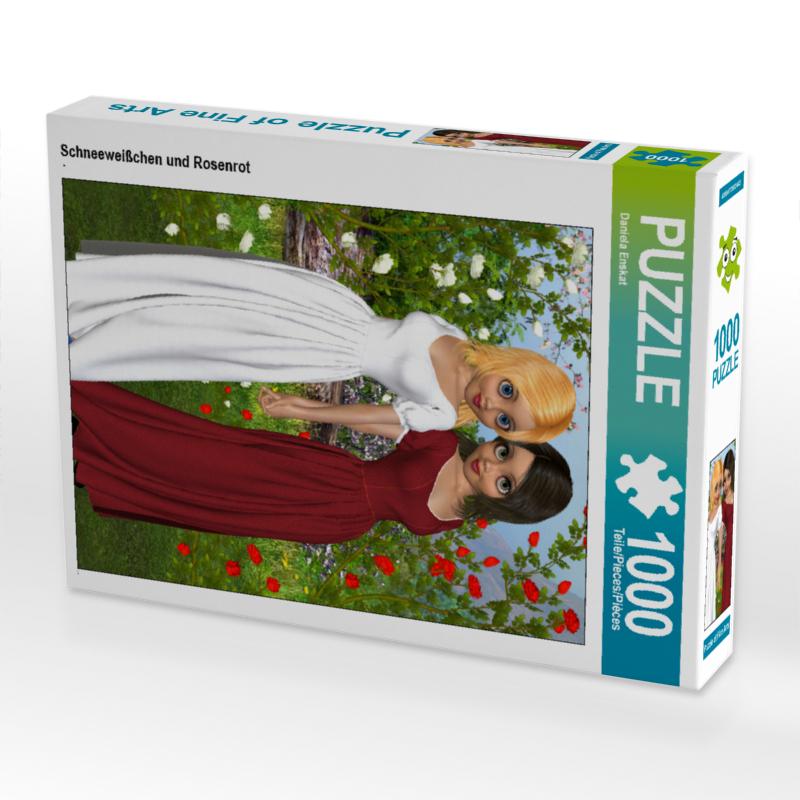 CALVENDO Puzzle Schneeweißchen und Rosenrot 1000 Teile Lege-Größ
