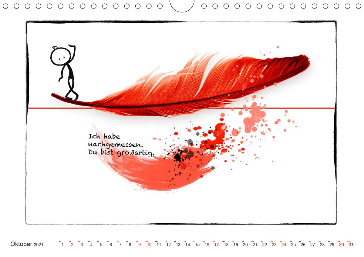 OLE LIEBT ROT (Wandkalender 2021 DIN A4 quer)