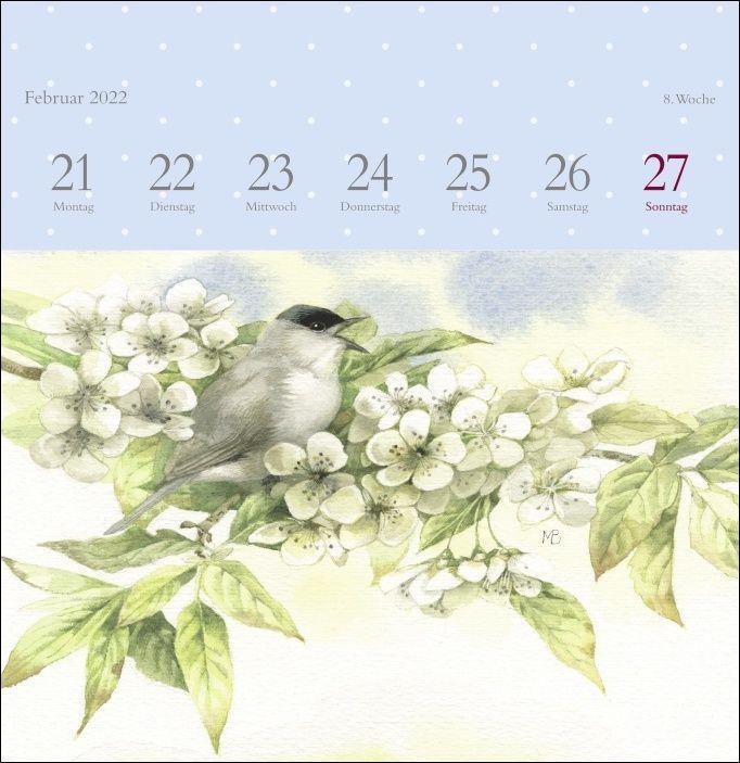 Marjolein Bastin: Schönheit der Natur Premium-Postkartenkalender 2022