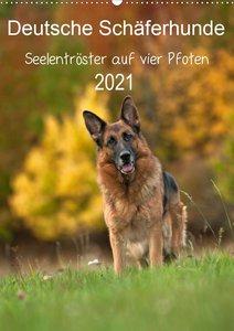 Deutsche Schäferhunde - Seelentröster auf vier Pfoten (Wandkalen