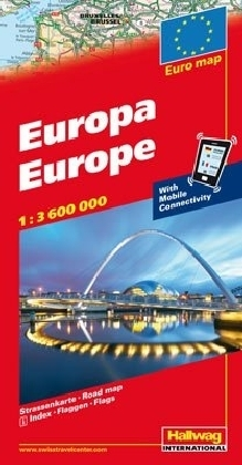 """Europa """"with Mobile Connectivity"""" 1 : 3 600 000"""