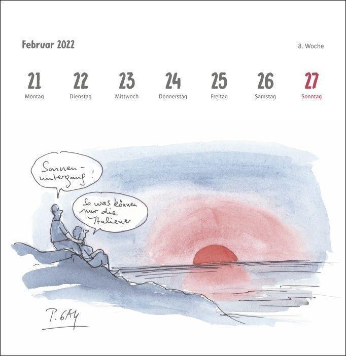 Peter Gaymann: Urlaubsreif Premium-Postkartenkalender 2022