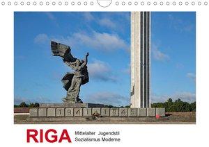 Riga - Mittelalter, Jugendstil, Sozialismus und Moderne (Wandkal