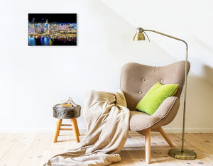 Premium Textil-Leinwand 45 cm x 30 cm quer Singapur - Asiatische