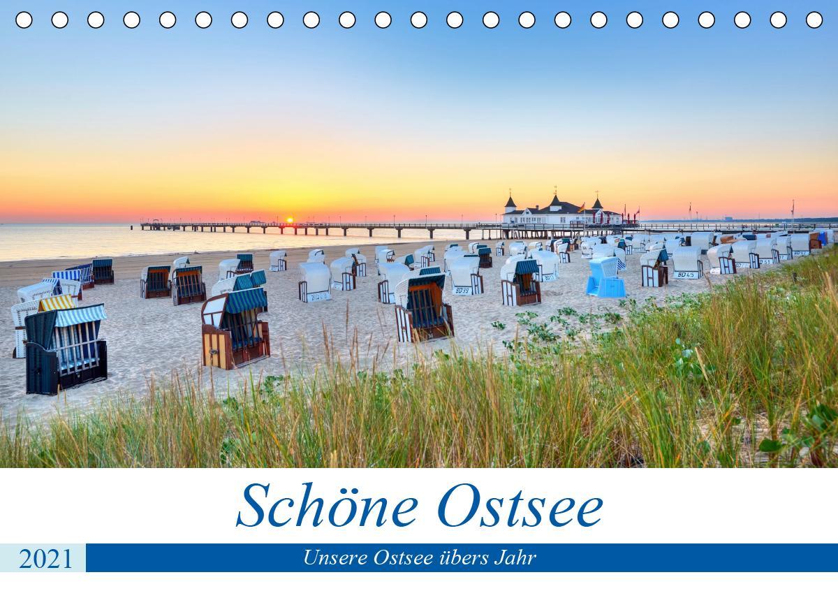 Schöne Ostsee - Impressionen übers Jahr (Tischkalender 2021 DIN
