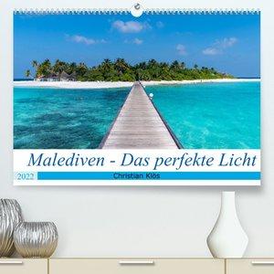 Malediven - Das perfekte Licht (Premium, hochwertiger DIN A2 Wandkalender 2022, Kunstdruck in Hochglanz)