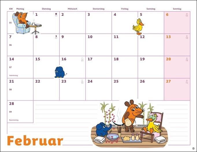 Die Maus Monatsplaner Kalender 2022