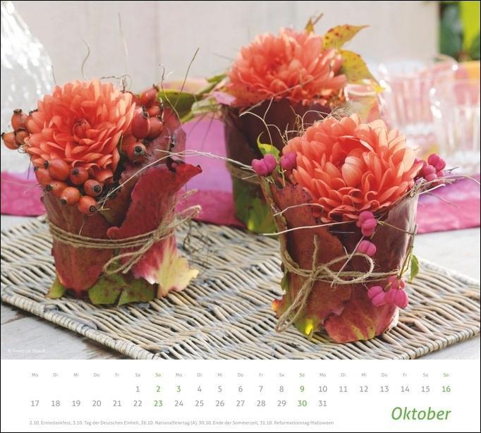 times&more Blumen Bildkalender 2022