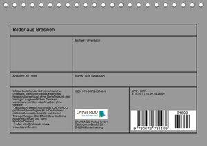 Bilder aus Brasilien (Tischkalender 2021 DIN A5 quer)