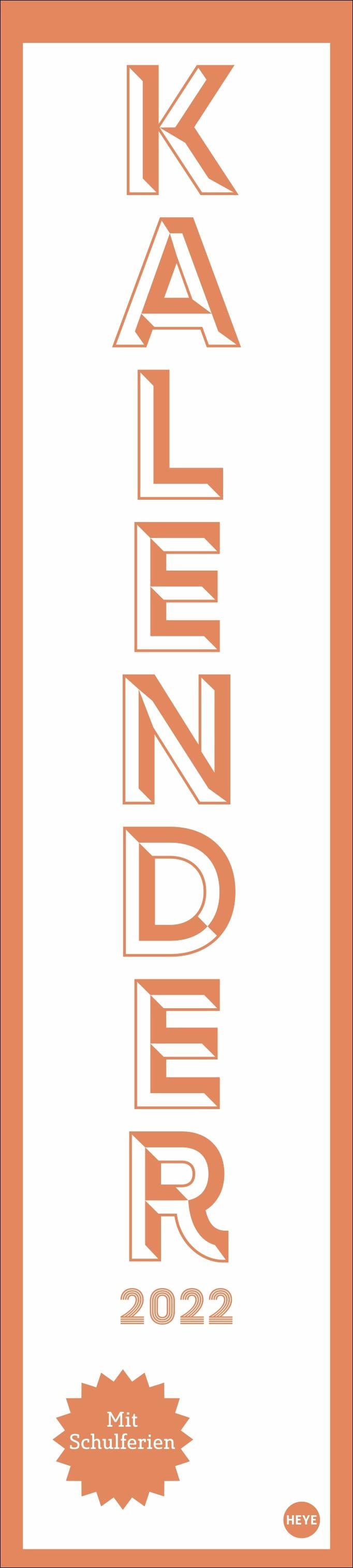 Neon Orange long Kalender 2022