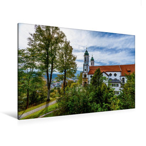 Premium Textil-Leinwand 120 cm x 80 cm quer Kalvarienbergkirche