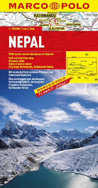 MARCO POLO Kontinentalkarte Nepal 1 : 750 000