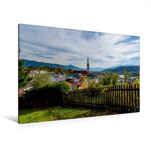 Premium Textil-Leinwand 120 cm x 80 cm quer Bad Tölz mit Isarwin