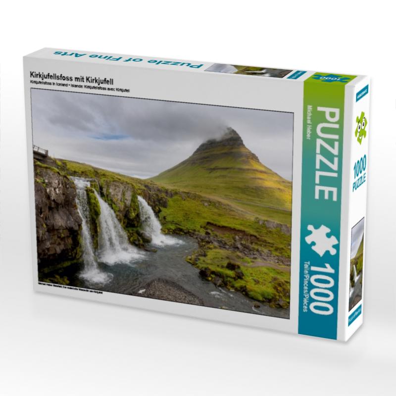 Kirkjufellsfoss mit Kirkjufell 1000 Teile Puzzle quer