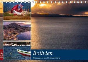 Bolivien - Titicacasee und Copacabana (Tischkalender 2021 DIN A5