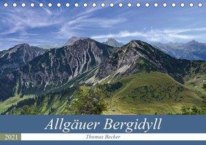 Allgäuer Bergidyll (Tischkalender 2021 DIN A5 quer)