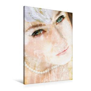 Premium Textil-Leinwand 60 cm x 90 cm hoch Portrait einer Wasser
