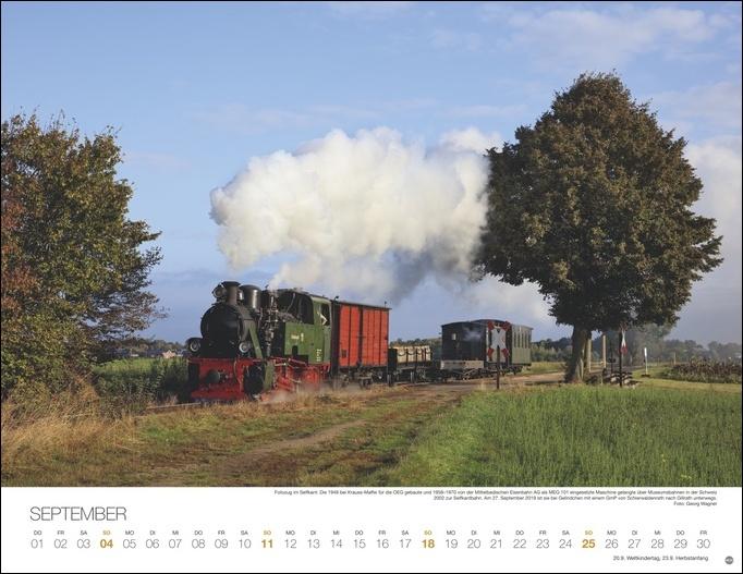 Feurige Dampfloks Kalender 2022