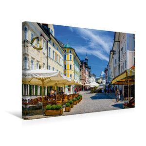 Premium Textil-Leinwand 45 cm x 30 cm quer Marktstraße