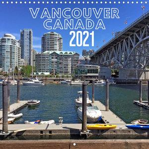 Vancouver Canada (Wall Calendar 2021 300 × 300 mm Square)