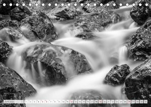 Bergpixels Schwarz-Weiße Gebirgsträume (Tischkalender 2022 DIN A5 quer)