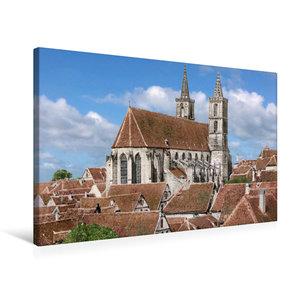Premium Textil-Leinwand 75 cm x 50 cm quer Rothenburg ob der Tau