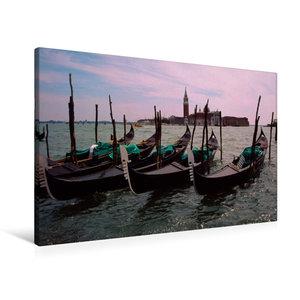 Premium Textil-Leinwand 90 cm x 60 cm quer Venedig Venice