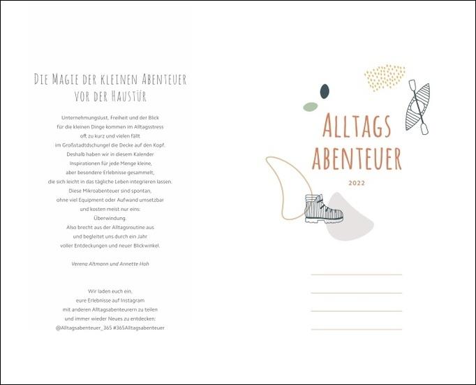Alltagsabenteuer Kalenderbuch A5 Kalender 2022