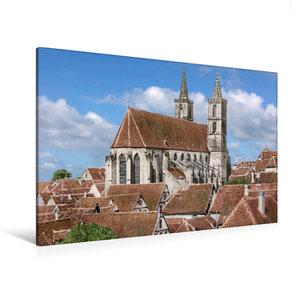 Premium Textil-Leinwand 120 cm x 80 cm quer Rothenburg ob der Ta