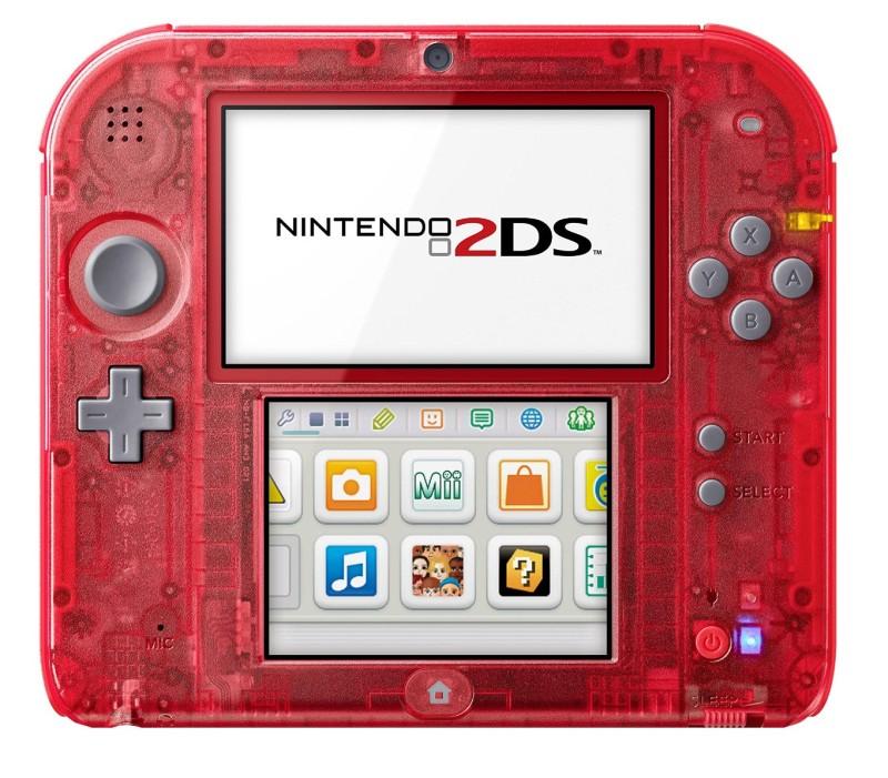 Nintendo 2DS Konsole - Transparent Rot