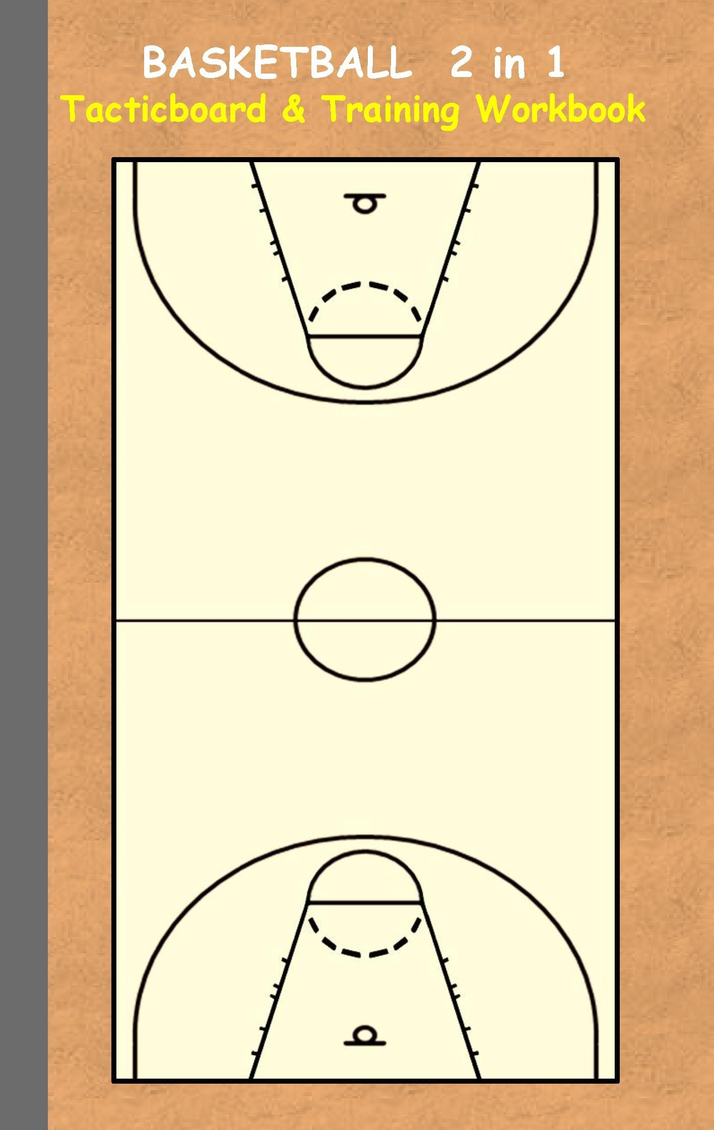 Basketball: 2 in 1 note- and tactic book with dry erase panel in