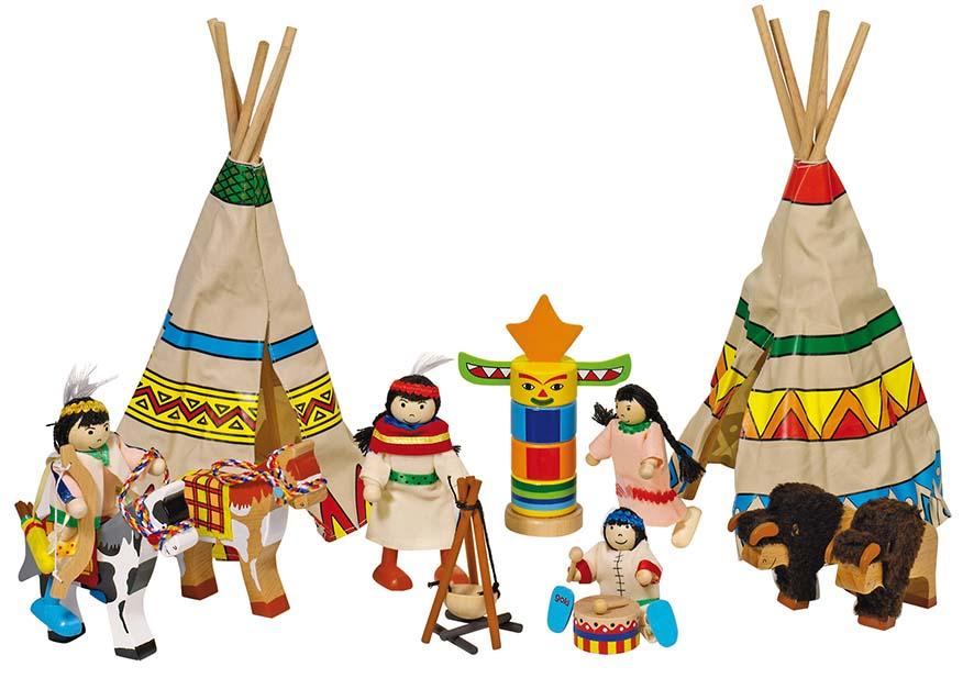 Goki 51911 - Biegepuppen Indianerlager