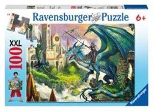 Ravensburger 10876 - Drachenreiter, XXL-Puzzle, 100 Teile