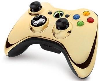 Wireless Controller Chrome Gold für XBOX 360