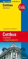 Falk Stadtplan Extra Standardfaltung Cottbus / Chosebuz 1: 17 50