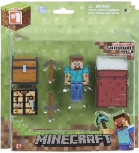 Minecraft 16450 - Survival Pack, Spieler Steve, Minifiguren mit
