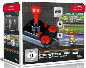 COMPETITION PRO USB Joystick - Sports Tournament Edition, schwarz-rot